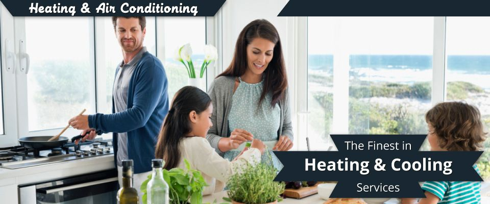 The Finest in Heating and Cooling Services | Family enjoying HVAC